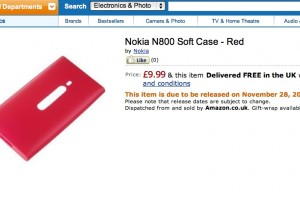 Nokia 800 Red case at Amazon UK