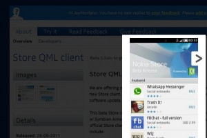 Qt QML Nokia Store app updated at Nokia Beta Labs