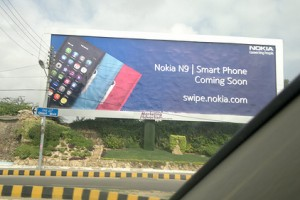 Nokia N9 coming to Pakistan, advert snapped in Karachi