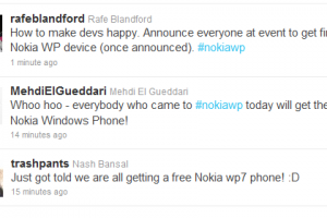 Freeee Nokia Windows Phones for WP developers!
