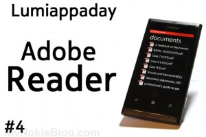 Lumiappaday #4: Adobe Reader (for PDF) demoed on Nokia Lumia 800