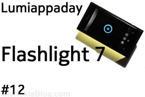 Lumiappaday #12: Flashlight 7 on the Nokia Lumia 800