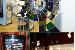 Oxford Street, London &#8211; Full Nokia Lumia 800 Window Display at