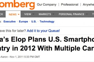 Nokia coming back to USA on Multiple Carriers (+7m video with Stephen Elop) [#RIMacquisition?]