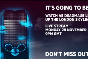 Live Stream tonight – DEADMAU5 and 4D projection at Millbank Tower, London