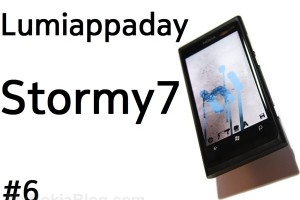 Lumiappaday #6: Stormy7 – demoed on the Nokia Lumia 800