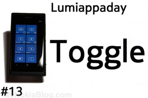 Lumiappaday #13: Toggle demoed on Nokia Lumia 800