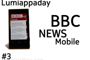 Lumiappaday #3: BBC News Mobile demoed on the Nokia Lumia 800