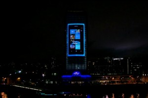 Video Collection: Nokia and Deadmau5 4D projection (and huuge Nokia Lumia 800)