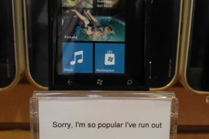 Nokia Lumia 800 sold out in some Orange Stores.