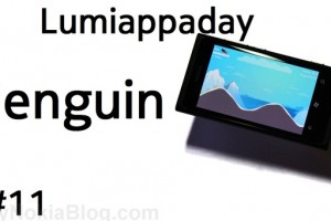 Lumiappaday #11: Penguin demoed on the Nokia Lumia 800