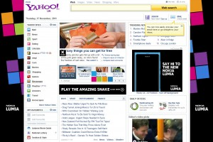 Yahoo goes all Nokia Lumia 800 – play the Amazing Snake too! What's your best score?