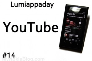 Lumiappaday #14: YouTube demoed on the Nokia Lumia 800