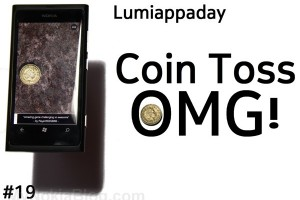 Lumiappaday #19: Coin Toss OMG! (+) demoed on the Nokia Lumia 800