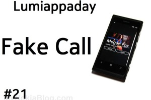 Lumiappaday #21: Fake Call demoed on the Nokia Lumia 800