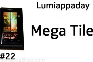 Lumiappaday #22: Mega Tile demoed on the Nokia Lumia 800