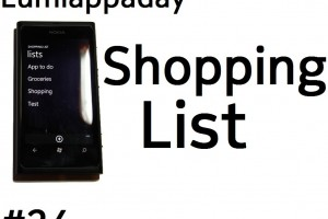 Lumiappaday #24: Shopping List demoed on the Nokia Lumia 800