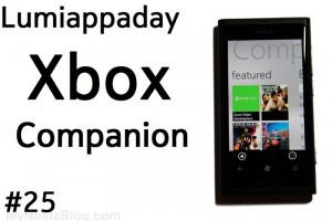 Lumiappaday #25: Xbox Companion demoed on the Nokia Lumia 800