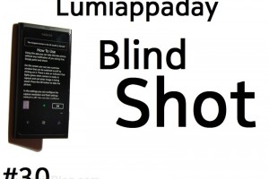 Lumiappaday #30: Blind Shot demoed on the Nokia Lumia 800