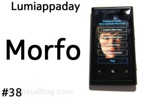 Lumiappaday #38: Morfo demoed on the Nokia Lumia 800