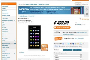 Nokia N9 64GB for 499 EUR at notebooksbilliger.de