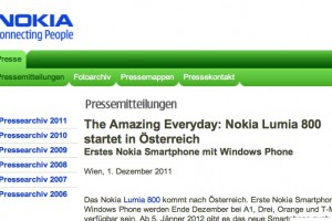 Nokia Lumia coming to Austria end of December – new smartphone at selected trade partners in January