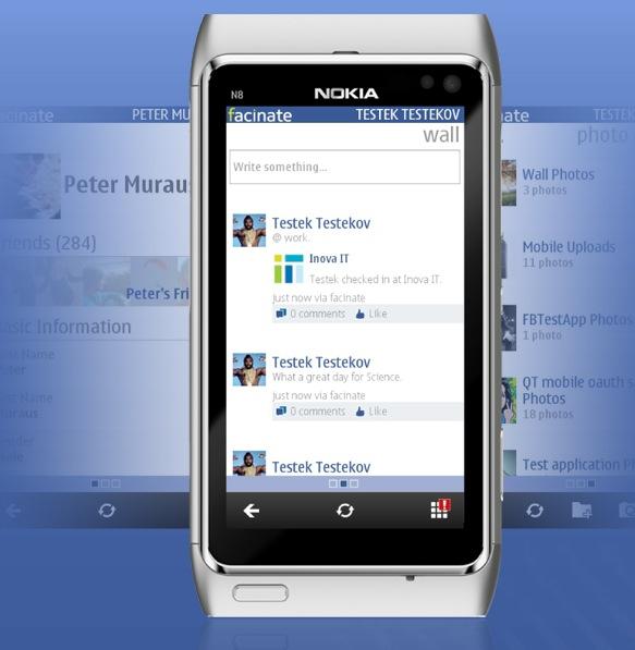Для facebook приложение nokia на