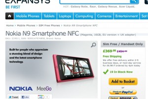 Massive Nokia N9 Price Drop at Expansys &#8211; 369.99 &#8211; Limited stock so hurry!