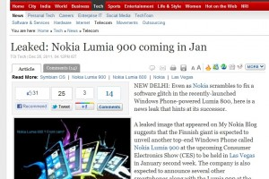 MyNokiaBlog mentioned on Times of India