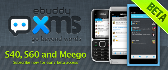 eBuddy XMS for MeeGo and WP7 out of Beta