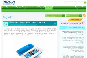 Elop in Brazil. Nokia Lumia 800/710 (+Asha 303, 200, 201) coming to Brazil in Q1 2012 (710+Asha made in Manaus)