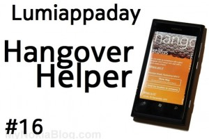 Lumiappaday #16: Hangover Helper demoed on the Nokia Lumia 800