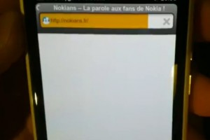 Video: Helium Web Browser running on white Nokia N9