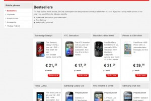 Nokia Lumia at 'Bestselling devices' at Vodafone Netherlands