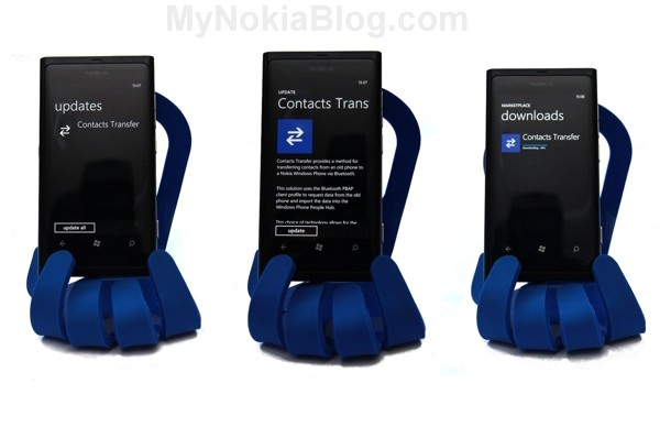 transfer contacts nokia lumia 800
