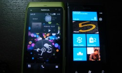 Side By Side against My N8 Running Belle