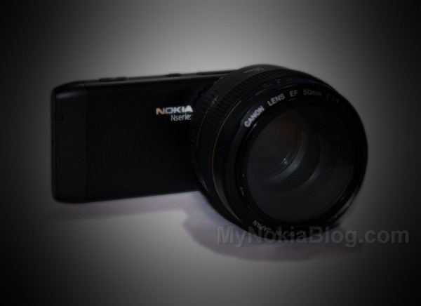 Video: Canon EF Mount for Nokia N8 (and sample)