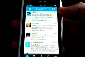 Video: Qt Twitter app, Tweeties for Symbian on Nokia N8 (Belle)