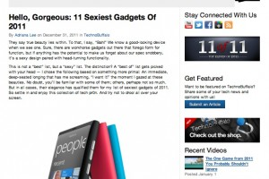 Nokia Lumia 800 top of TechnoBuffalo's Sexiest Gadgets list for 2011 (+ramble on N9/Nokia design)
