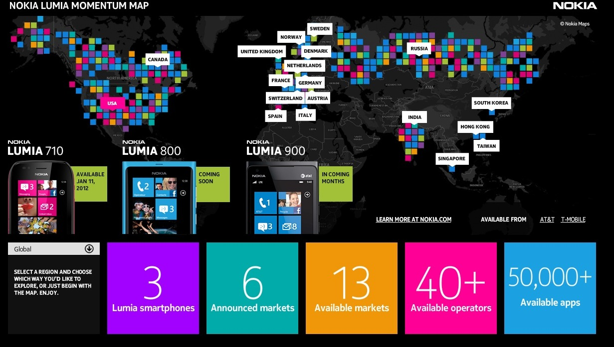 Useful: Nokia Lumia Momentum Map – keep track of Lumia stats!