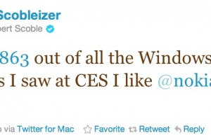 @Scobleizer liked Nokia&#8217;s Windows Phones the best at CES #Lumia