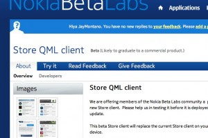 Nokia Store QML client updated for Symbian at Nokia Beta Labs.