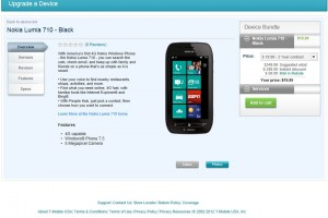 T-Mobile Lumia 710 for $19.99 after $50 Mail in Rebate!