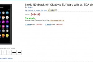 Nokia N9 64GB for £444.99 at Expansys UK (or Amazon UK via Expansys)