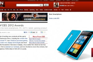 Nokia Lumia 900 is the Best Smartphone of CES 2012 says IGN (CNet too)