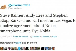 Eldar back on form, more Microsoft buying Nokia Smartphone division rumours.