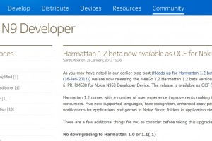Harmattan PR 1.2 beta available for Nokia N950