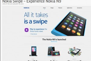 Nokia Swipe Experience / Nokia N9 – Site of the Day from The Favourite Website Awards