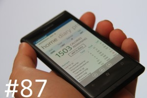 Lumiappaday #87: MyFitnessPal on the Nokia Lumia 800