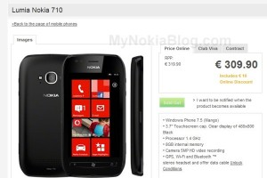 Nokia Lumia 710 sold out at Vodafone Portugal. (Lumia 800 top WP of Europe?)